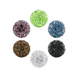 8mm Crystal Ball Post Back Stud Earrings