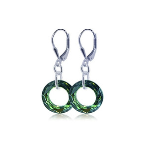 Sterling Silver Leverback Drop Earrings