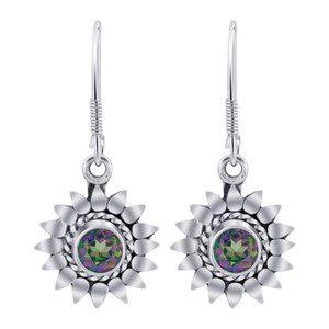 Sterling Silver Mystic Fire Topaz Earrings
