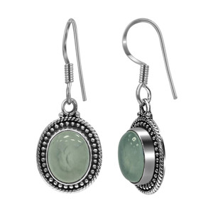 Sterling Silver Chalcedony Dangle Earrings