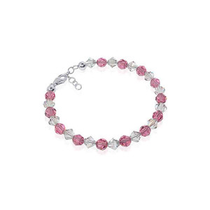 Swarovski Elements Crystal Sterling Silver Bracelet