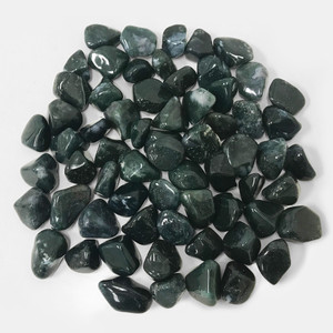 Moss Agate Heated Tumbled Stones