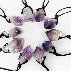 Amethyst  Crystal Pendants with Necklace