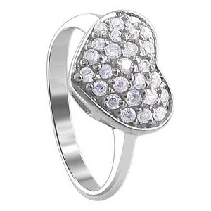 CZ Heart Ring
