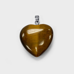 Natural Tiger Eye Crystal Heart Pendant