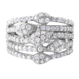 925 Sterling Silver Round Cubic Zirconia 5mm Ring #TDRS148