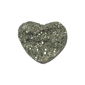 Natural Pyrite Heart Crystal Gemstone Collectible