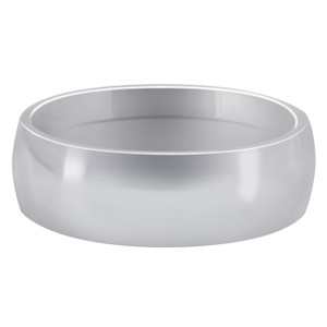 Men's Stainless Steel Plain 7mm Wedding Band