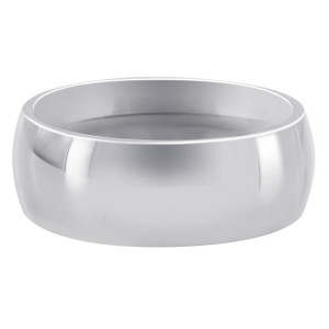 Men's Stainless Steel Plain 8mm Wedding Band