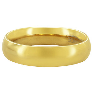 Men's Stainless Steel Gold Plated 5mm Wedding Band