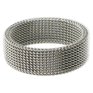 Stainless Steel Woven Mesh 7mm Band #LWSSR010