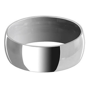 Stainless Steel Engravable 8mm Plain Band #LWSSR011