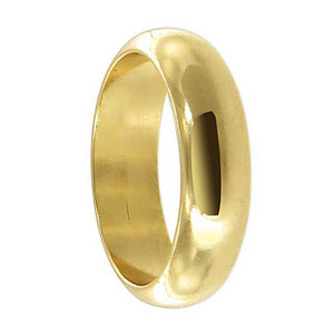 18k Gold Layered 5mm Wide Wedding Band #HORG012