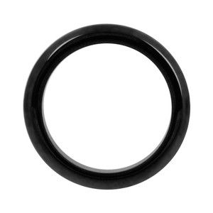 Simulated Hematite Magnetic 4mm Band