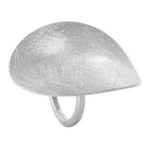 Silver Plated Designer Scratch Style Ring