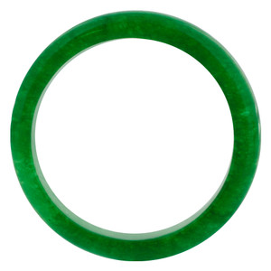 Men's Green Gemstone 5mm Wide Band #PNR003