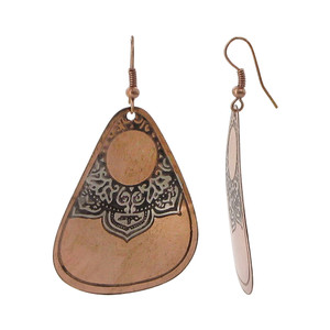 1.3 x 1.8 inch Designer Fashion Drop Earrings with French Wire Findings