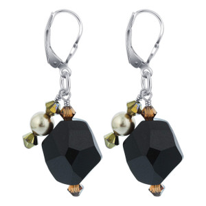 925 Silver Swarovski Elements Crystal Handmade Earrings