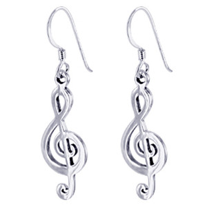 Musical Note Dangle Earrings