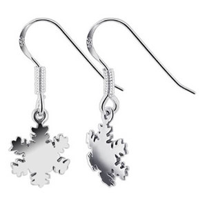 Sterling Silver Snowflake Drop Earrings