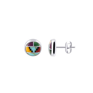 Sterling Silver Southwestern Style Stud Earrings