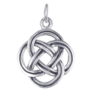 925 Sterling Silver 19mm x 13mm Braided Design Celtic Charm Pendant