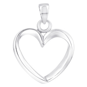 925 Sterling Silver Open Heart Pendant