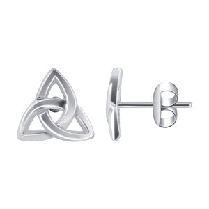 Celtic Knot Post Back Stud Earrings