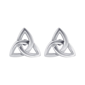 925 Sterling Silver Celtic Knot Post Back Stud Earrings #LWES257
