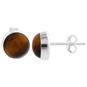 Tiger Eye Stud Earrings