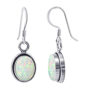 opal drop earrings