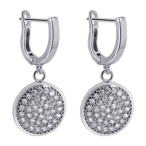 Clear Cubic Zirconia Dangle Earrings