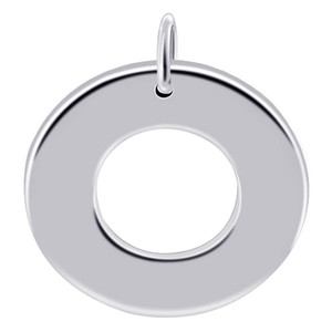 Polished Finish Round Shaped Donut Pendant