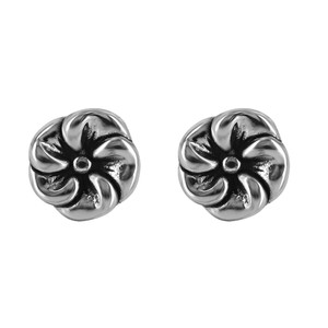 925 Sterling Silver Fancy Flower Post Back Stud Earrings #E062
