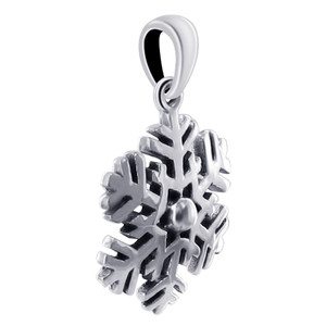 925 Sterling Silver Snowflake Pendant