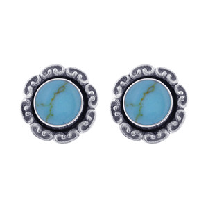Turquoise Gemstone Stud Earrings