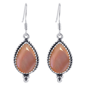 Pink Shell Drop Earrings