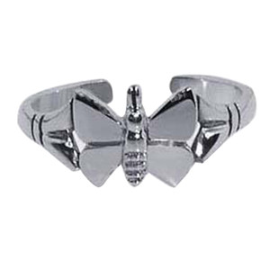 925 Sterling Silver Butterfly Design Toe Ring