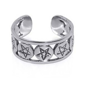 925 Sterling Silver Stars Toe Ring