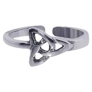 925 Sterling Silver Celtic Knot Toe Ring #LWTS004