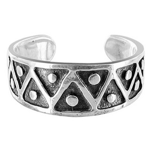 925 Sterling Silver Oxidized Toe Ring