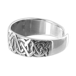 925 Sterling Silver Celtic knot 5mm Toe Ring #BDTS013