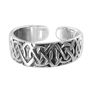 Celtic knot 5mm Toe Ring