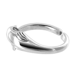925 Sterling Silver Cute Dolphin 6mm Toe Ring #BDTS014