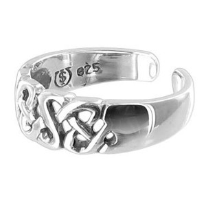 925 Sterling Silver Celtic Toe Ring for Women #BDTS021