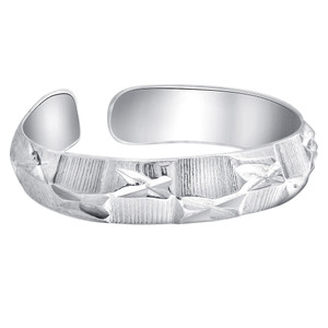 Sterling Silver Polished Finish Toe Ring