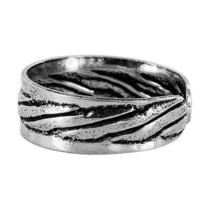 925 Sterling Silver Stripes Design 5mm Toe Ring #ZFTS019