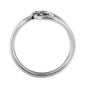 925 Sterling Silver Swirl Design Wire Toe Ring #PSTS001