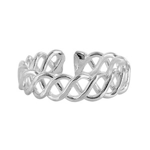 Sterling Silver Wavy Design Toe Ring