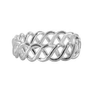925 Sterling Silver Wavy Design Toe Ring